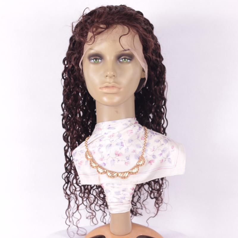 Curly 20inch 2# brazilian hair-1