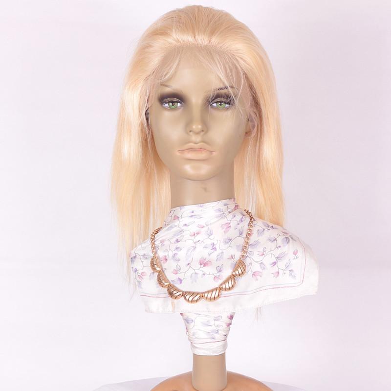 SS 12inch 22# 180 density Brazilian hair Lace Wig-1