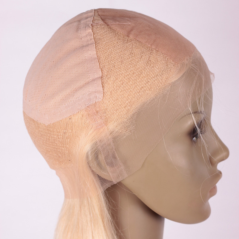 SS 12inch 22# 180 density Brazilian hair Lace Wig-cap