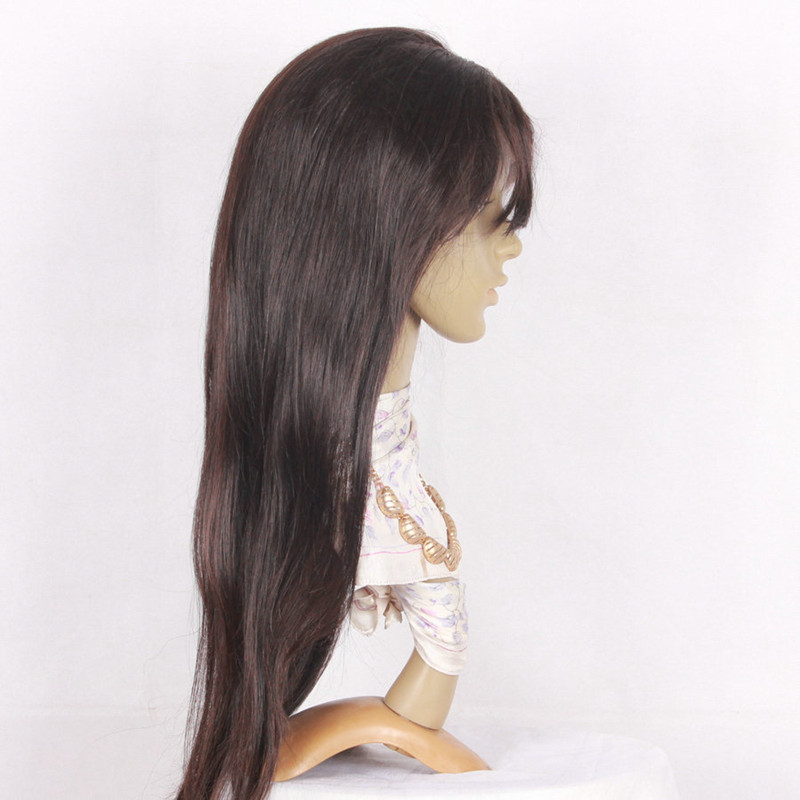 Silky Straight 22inch natural color silk top-2
