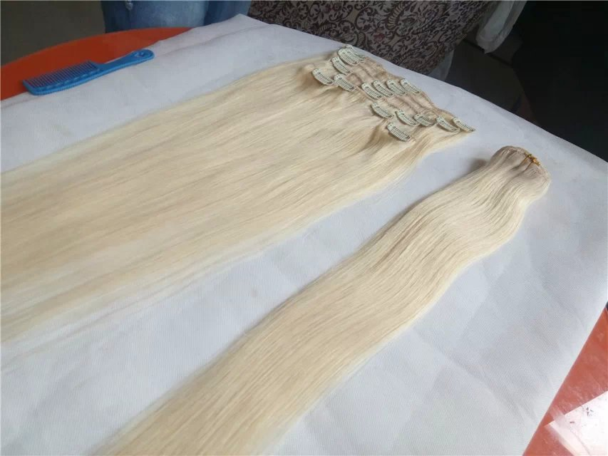 Blonde Clip In Hair Extensions
