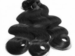 Unprocessed virgin remy hair grade 6A natural color 1b# body wave texture