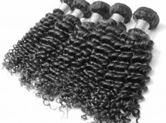 Human remy hair brazilian virgin deep wave top quality soft