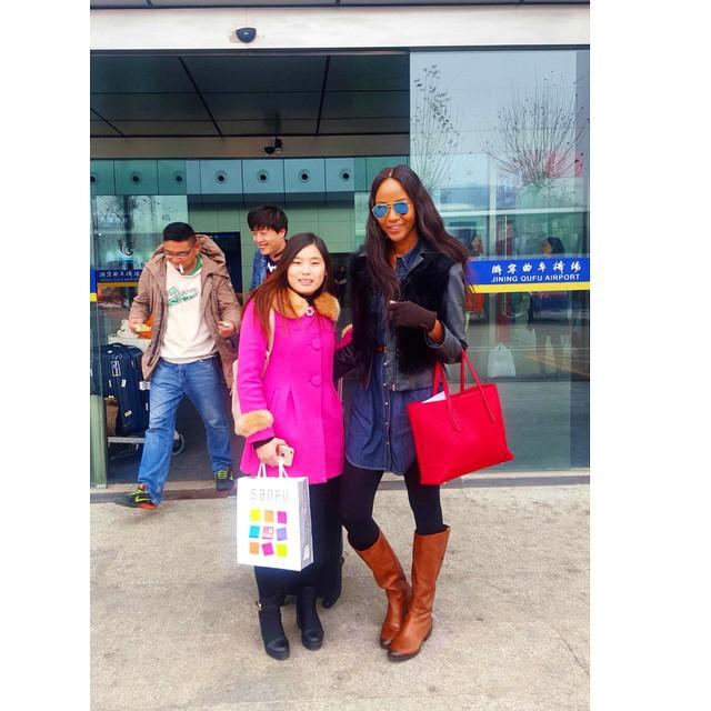 Diana & Tousi at Airport