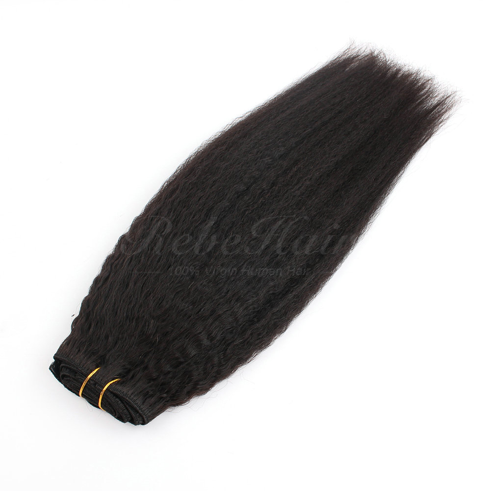 Kinky Straight Clip In Hair Extensions Best Wholesale Hair Weave