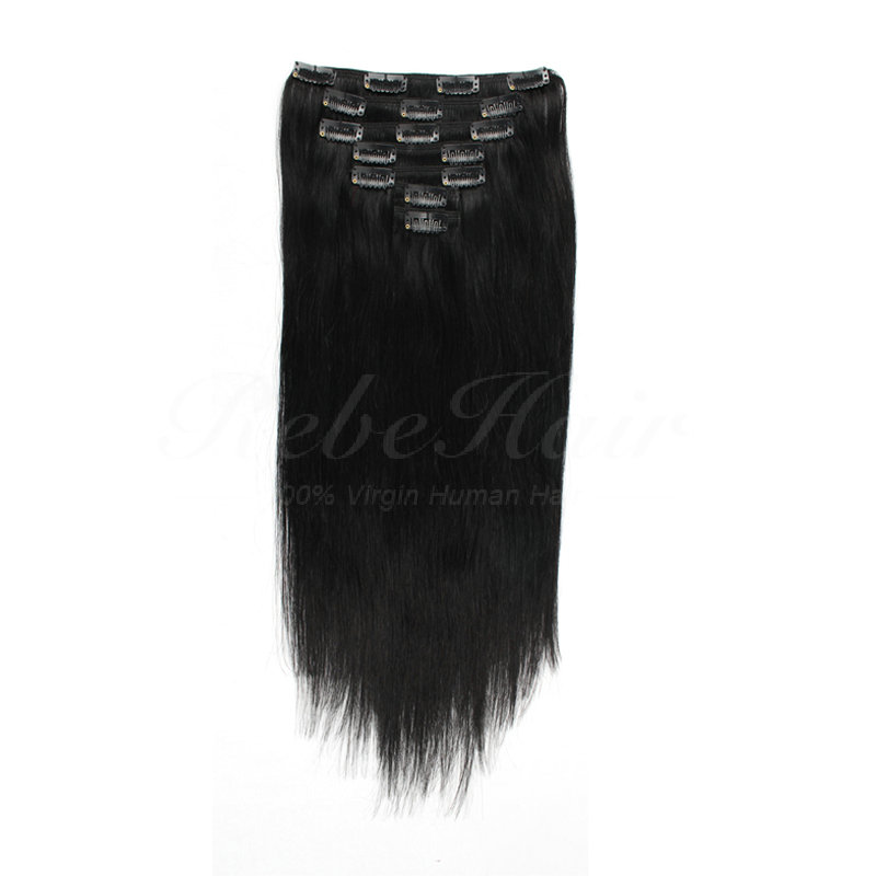 Clip In Hair Extension Off Black Best Wholesale Hair Weave